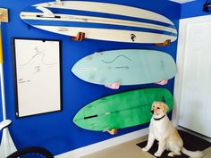 hand crafted surfboard wall rack
