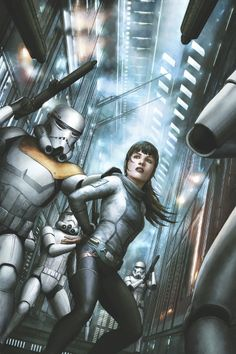 Star Wars: Legacy#15  Corinna Bechko (W), Gabriel Hardman(W/A), Jordan Boyd(C), and Agustin Alessio(Cover)  On sale May 28 FC, 32 pages $2.99 Ongoing  The good news: Ania Solo has escaped the vengeance of a crazed bounty hunter.  The bad news: She has been taken into custody by the Empire for the murder of an Imperial Knight!  Somebody's getting a death sentence!
