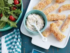 Oven-Fried Fish Sticks With Tartar Sauce #recipe from 'Lighten Up, America!'