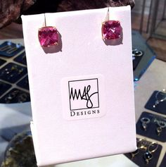 ~Giveaway!!!~ Enter to win these Pink Topaz Earrings by following us on House Account App - Meredith A. Jackson - Winner announced tomorrow after 12pm EST! $500 Value!!  To Download the App Click Here: http://appstore.com/houseaccount