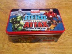 #Marvel universe - #topps hero attax #trading card game tin (no cards) rare.,  View more on the LINK: 	http://www.zeppy.io/product/gb/2/262189845877/