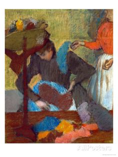 At the Milliner (Chez La Modiste), 1898 Giclee Print by Edgar Degas - AllPosters.co.uk