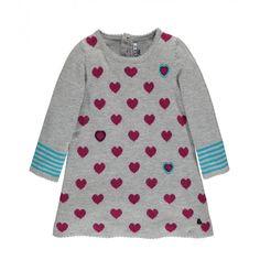 Heart Print Knit Dress / Robe en maille à motif cœurs, Souris Mini