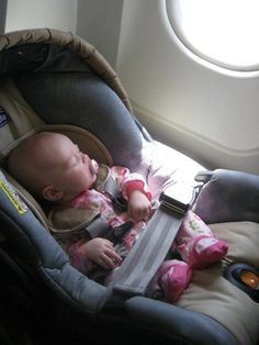 Car Seat on Plane Infant