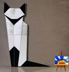 How to Make the Origami Siamese Cat by Martha Mitchen  Folder and Photo: Origami-Kids  http://origami-blog.origami-kids.com/how-to-make-the-origami-siamese-cat-by-martha-mitchen.htm