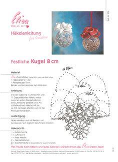 Tina's handicraft : 11 designs & charts for christmas ornament Crochet Ornaments, Christmas Crochet Patterns, Crochet Snowflakes, Christmas Snowflakes, Christmas Bells, Crochet Stone, Crochet Ball, Crochet Doll Dress, Easter Crochet