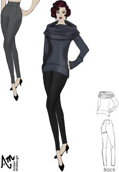 Turtleneck Sweater By Amber Middaugh-- This design is in a contest with Maison Academia ( an Italian clothes manufacture) if you like please click on it and vote for it. Thanks!!