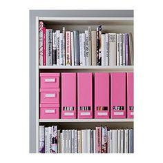 IKEA - TJENA, Boîte avec couvercle, rose, , Utilisez le porte-étiquette inclus pour avoir facilement un aperçu du contenu de la boîte et rapidement trouver vos affaires.