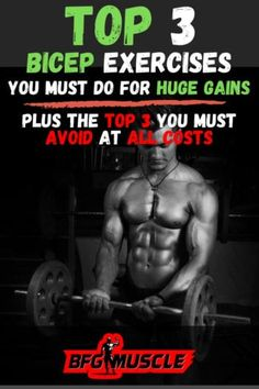 Shoulder And Bicep Workout, Dumbbell Bicep Workout, Big Biceps Workout, Bicep And Tricep Workout, Bar Workout, Gym Workout Tips, Workout Plans, Plank Workout, Workout Routines