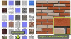 Materiais e texturas de muros com exclusivos canais normalmap e displacement. Confira: http://www.tonka3d.com.br/colecao-total-image.html