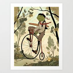 Morning Ride Art Print by Kyle T Webster - $19.00