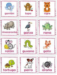 Educación Preescolar: Memorama de animales