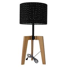 Threshold™ Wood Table Lamp black shade//Target Size: 23.5 H x 14 W x 14 D Price: $47.99