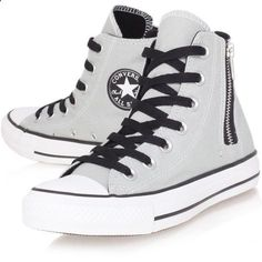 Converseshoes$29 on Twitter High Top Sneakers, Grey Sneakers, Converse Sneakers, Best Sneakers, Converse All Star, Converse High, Vans, Canvas Sneakers, Grey Converse