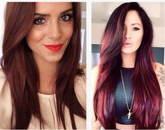 Merlot hair color. Much like the wine, Merlot is a rich red color with subtle hints of cherry and cocoa.