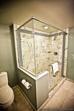 Glass Shower same layout and similar tile