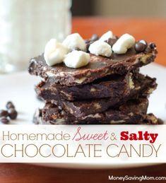 Homemade Sweet and Salty Chocolate Candy - Money Saving Mom®