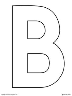 **FREE** Uppercase Letter B Template Worksheet. The Uppercase Letter B Template is an ultra useful, all-purpose letter template designed for use in a variety of crafts and activities to complement your alphabet studies.