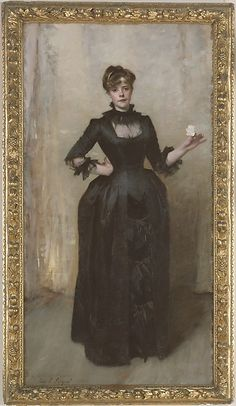 John Singer Sargent (American, 1856–1925). Lady with the Rose (Charlotte Louise Burckhardt), 1882. The Metropolitan Museum of Art, New York. Bequest of Valerie B. Hadden, 1932 (32.154)