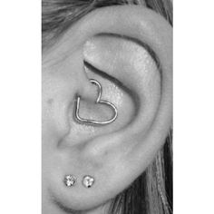 190 Tattoos and piercings by None via Polyvore I need to find thisearring for my existing piercing!!.