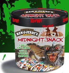ben and jerry's horror movie flavors - Gremlins Funny Horror, Horror Movies, Scary Movies, 80s Movies, Ben Und Jerrys, Ice Scream, Cereal Killer, Midnight Snacks, Ice Cream Flavors