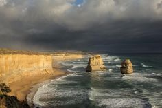 The Twelve Apostles are ever-changing sandstone monoliths just off Victoria Australia's Great Ocean Road. I don't think I've ever seen a more beautiful coastline. by scotweaver http://ift.tt/1ijk11S