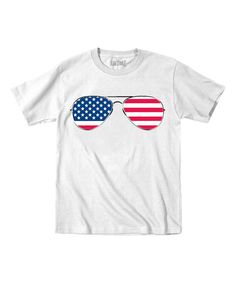 Look at this White American Flag Glasses Tee - Toddler & Kids on #zulily today!