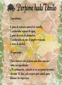 Trastos de Bruja: Perfume hada Vanilo