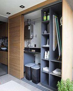 Development MaxHaus Paulista Price of Occasion Mak Laundry Room Design, Room Interior Design, Closet Bedroom, Küchen Design, Cabinet Design, Living Room Designs, New Homes, Room Decor, House