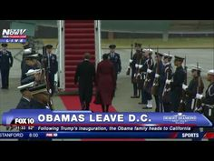 OBAMA'S FINAL WAVE: President Departs Joint Base Andrews for Palm Springs After Trump Inauguration - YouTube