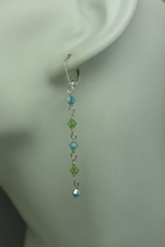 Jacqueline earrings: Swarovski crystals and sterling silver