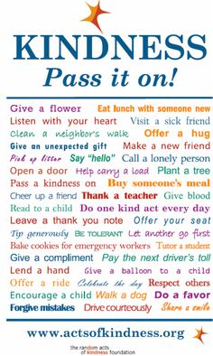 Beautiful reminder of ways to practice kindness in daily life...this is mindfulness as we truly connect with others and show real care.