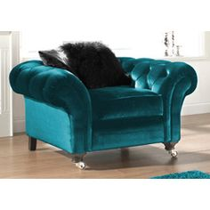 "turquoise velvet chair...(it's really more ""teal"" ...but gorgeous!)"