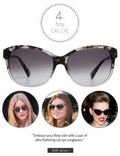 Flirty Cat Eye | Summer 2013 Sunglasses Trends: Make a Statement | The Look | Coastal.com | #theLOOK