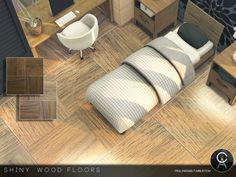 Shiny Wood Floors by Pralinesims at TSR • Sims 4 Updates