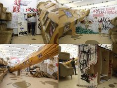 """Thomas Hirschhorn """"Stand-alone"""" solo exhibition at Arndt & Partner, Berlin 2007"""