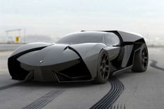 The Lamborghini Ankonian Sport was designed by Slavche Tanevsky. The Ankonian is a mid-engine concept sports car modeled after a stealth fighter. According to Tanevsky, the Ankonian is a more aggressive version of the Lamborghini Reventón. Cool Sports Cars, Cool Cars, Weird Cars, Maserati, Bugatti, Supercars, Lamborghini Ankonian, Bmw R65, Dream Cars