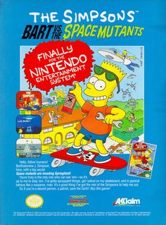 The Simpsons Bart vs The Space Mutants Nintendo SNES Ad
