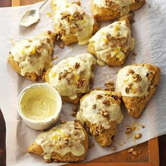 Cranberry-Pumpkin Scones with Sugared Pepitas? We'll take two! More pumpkin recipes: http://www.bhg.com/thanksgiving/recipes/pumpkin-recipes/?socsrc=bhgpin091513scones#page=38