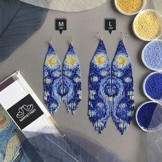 Seed Bead Jewelry, Seed Bead Earrings, Seed Beads, Beaded Jewelry, Dangle Earrings, Jewellery, Beaded Earrings Patterns, Beading Patterns, Bracelet Patterns
