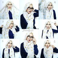 Beautiful Easy Glasses Hijab Tutorial 2019 Beautiful Easy Glasses Hijab Tutorial The post Beautiful Easy Glasses Hijab Tutorial 2019 appeared first on Scarves Diy. Stylish Hijab, Modern Hijab, Hijab Chic, Square Hijab Tutorial, Hijab Style Tutorial, How To Wear Hijab, How To Wear Scarves, Hijab Fashion Inspiration, Style Inspiration