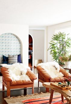 Home Tour: Ben McKenzie's Eclectic Hollywood Hills Home via @domainehome