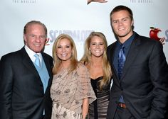 Kathie Lee Gifford smiles for a photo with her husband, football great Frank Gifford, and their children, Cassidy and Cody.(© David Gordon)