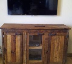 YOUR Custom Made Rustic Barn Wood Entertainment Center, Vanity, TV Stand or Sideboard Dresser or Cabinet Rustic Barn, Barn Wood, Rustic Wood, Flat Screen Tv Stand, Wood Entertainment Center, Simple Tv, Wood Vanity, Old Dressers, Wood Furniture