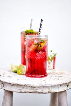 Cocktail Friday: Pink Mojito #cocktails #drinks #alcohol