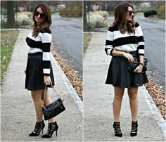 Leather Skirt Fall Outfit