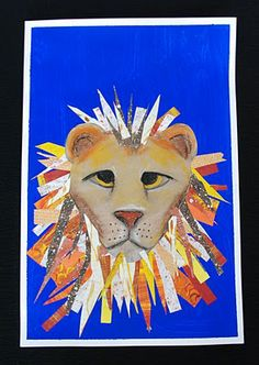 Awesome 2nd grade lions from that artist woman. Really excited to do this with a circus unit.