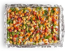 Arugula Recipes, Recipe Sheets, Sheet Pan Suppers, Salmon Dinner, Gnocchi Recipes, Roasted Butternut Squash, So Little Time, Food Network Recipes, Dinner Recipes