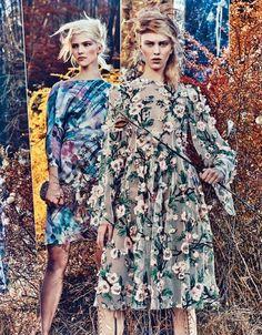 Fashion Photography - W-Magazine / Field Day - monstylepin #fashion #photography #editorial #Wmagazine #floral #print #trend