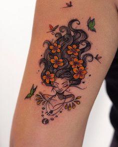 Robson Carvalho Turns His Beautiful Drawings Into Magical Tattoos – KickAss Things - Kostüm Ideen Ink Master Tattoos, Body Art Tattoos, Sleeve Tattoos, Tatoos, Pretty Tattoos, Unique Tattoos, Couple Tattoos, Tattoos For Guys, Cover Up Tattoos For Women